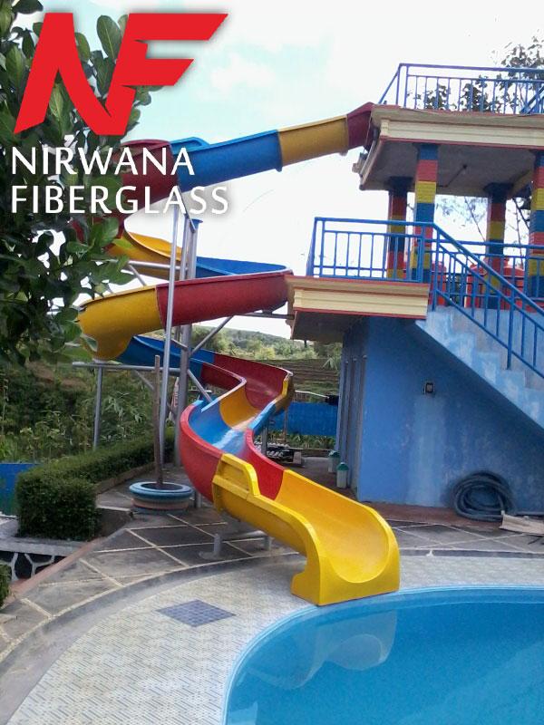 Seluncuran kolam renang model spiral